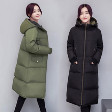 New 2016 Winter Thickening Young Girl Plus Size With A Hood Wadded Jacket Female Ultra Long Over-the-knee Women Coat