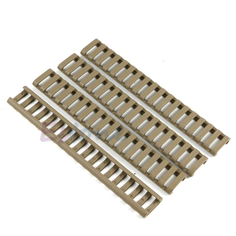 4x 18-Slot Picatinny Ladder Rail Panel Handguard Protector Resistant Cover