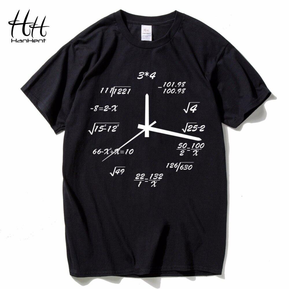 HanHent Math Creative Clock Shirts Men P