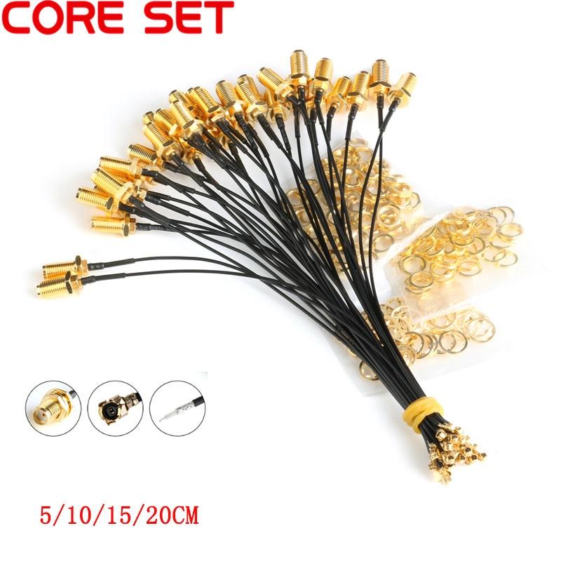5 шт. кабель разъема sma Female для uFL/u. FL/IPX/ipex РЧ или без разъема коаксиальный адаптер в сборе RG178 Pigtail кабель 1,13 мм Соединители      АлиЭкспресс