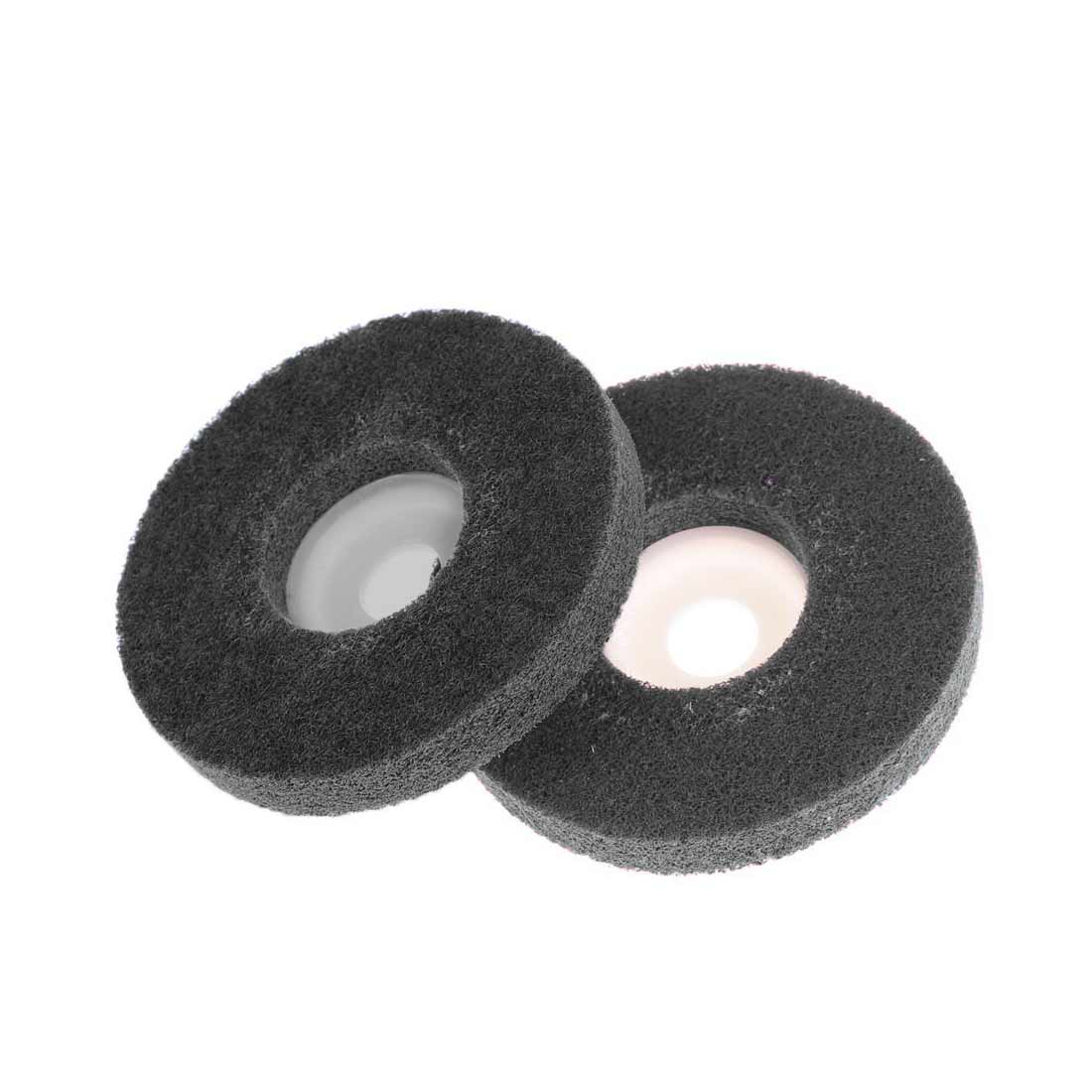 100*12*16mm Nylon Grinding Disc 180# Non-woven Unitized Polishing Wheel For Soft Metal Stainless Steel