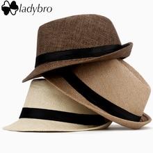 Sun-Hat Cap Trilby Hat Straw-Fedora Panama Kids Summer Women Female Child Ladybro