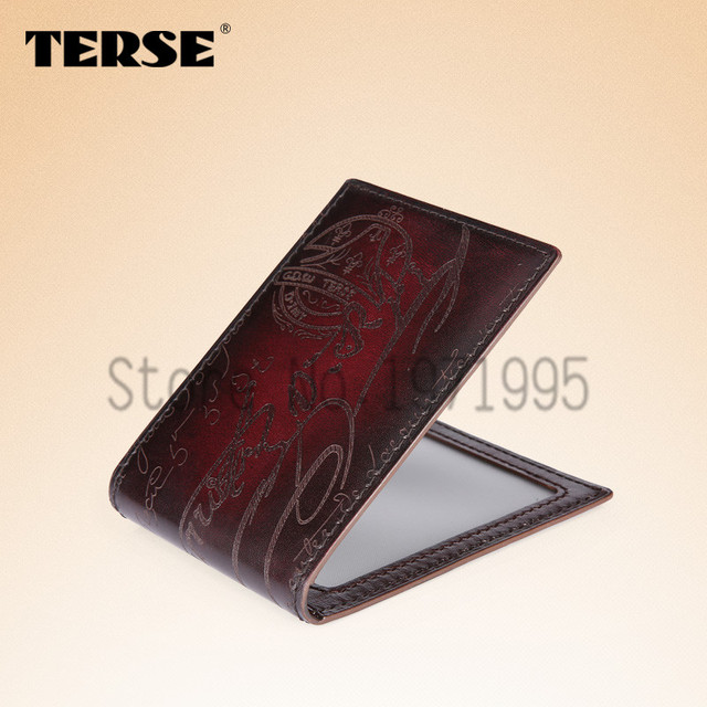 TERSE Men Leather Card  Wallet Leather Driver's License  With a Thin Card Package Documents Package Driver's License OEM Service