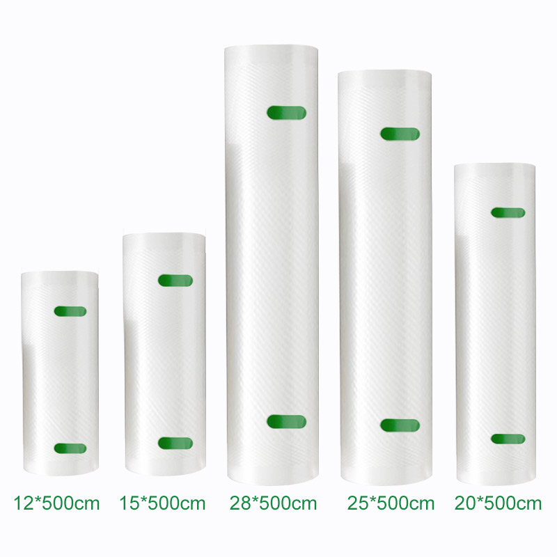 YTK Kitchen Food Vacuum Bag Storage Bags For Vacuum Sealer Food Fresh Long Keeping 12+15+20+25+28cm*500cm 5 Rolls/Lot