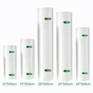 Image 1 - YTK Kitchen Food Vacuum Bag Storage Bags For Vacuum Sealer Food Fresh Long Keeping 12+15+20+25+28cm*500cm 5 Rolls/Lot