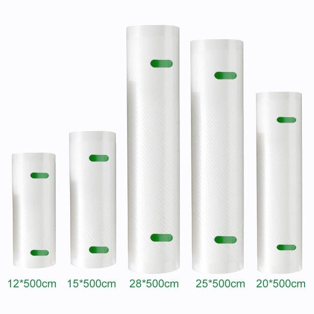 YTK Kitchen Food Vacuum Bag Storage Bags For Vacuum Sealer Food Fresh Long Keeping 12+15+20+25+28cm*500cm 5 Rolls/Lot