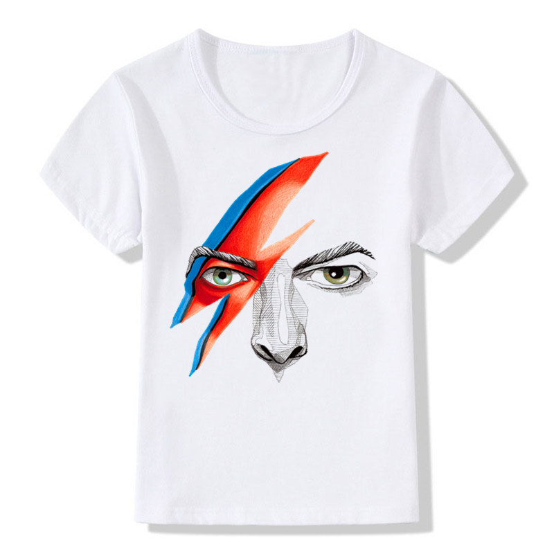 Children Tshirts Boy and Girl Print Rock Bowie David Bowie Ziggy Stardust Vintage Fashion <font><b>T</b></font>-shirt Kids Tops Baby Clothes,-<font><b>515</b></font> image