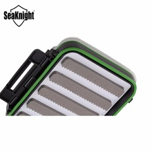 SeaKnight MAXWAY Fishing Lure Box 126*94*45mm Double Face Visible Plastic Waterproof Box Fishing Tackle Box for Fly Lure & Hooks