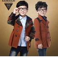 Winter Children Clothing Kids Boys Jackets Plaid Boys Blazers  Gentleman Kids Coats For Boys Handsome Boy Winter Outerwear