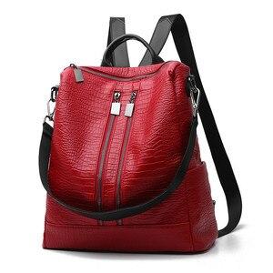 Image 1 - MONNET CAUTHY Bayanlar Yeni Çantalar Muhtasar Eğlence Moda Batı Tarzı Sırt Çantaları Katı Renk Şarap Kırmızı Siyah Mavi Gri Kadın Çantası