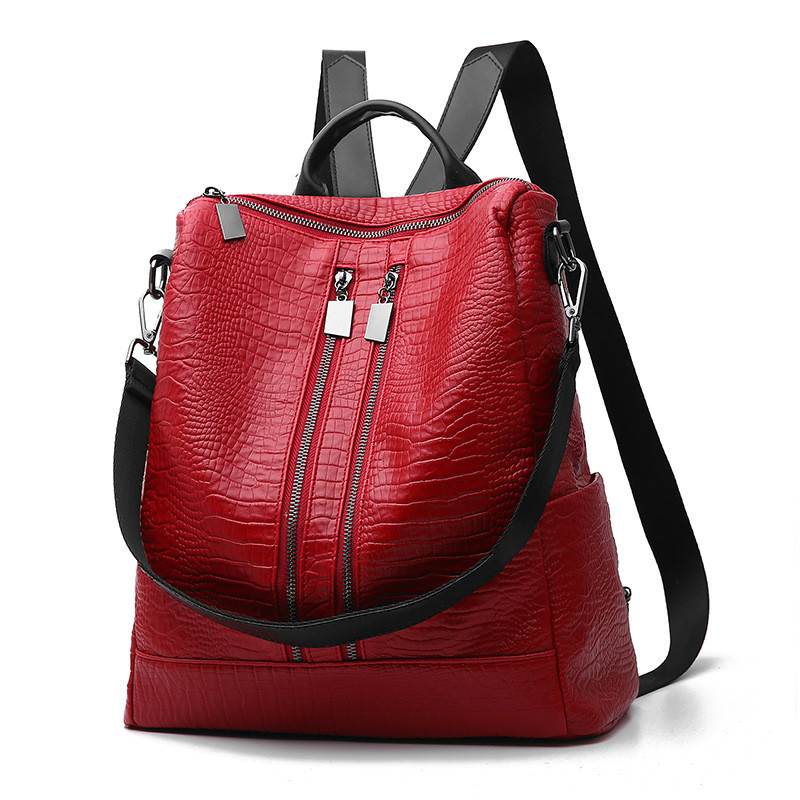 MONNET CAUTHY Ladies New Bags Concise Leisure Fashion Occident Style Backpacks Solid Color Wine Red Black Blue Grey Female Bag monnet cauthy female bags concise leisure newest fashion travel girls style messenger bag solid color black white pink red flap