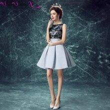 Sparkly Satin Spitze Short Prom Kleider 2016 A-linie Cocktail Homecoming Kleid vestido de festa SSX00161