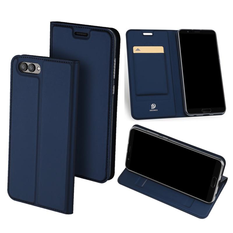 D'origine DUX DUCIS Étui En Cuir Pour Huawei Honor V10 De Luxe Flip Stand portefeuille Couverture Pour Huawei Honor V 10 V10 Vue 10 Téléphone Cas