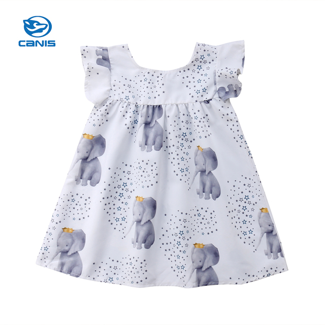 ea5207ae8 2018 Summer Cute Toddler Baby Girls Summer Elephant Princess Party ...
