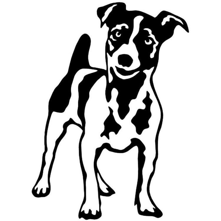 JACK RUSSELL TERRIER HEART Vinyl Decal Sticker Car Window Wall Bumper Dog Puppy