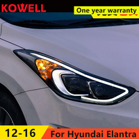 KOWELL Car Styling For 2012 2016 Hyundai Elantra Headlights MD LED Headlight DRL Q5 Bi Xenon Lens High Low Beam Parking Fog Lamp