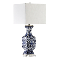 art lamps Chinese style classical blue and white porcelain table lamps blue desk lamp creative white simple table light ZA81210