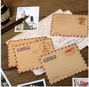 10pcs/lot 98*74mm Vintage Fashion Cute Mini Stationery Window Paper Envelope For Greeting Cards Envelope Cover