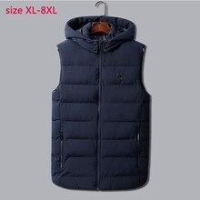 Padded Vest Coat Warm Male Cotton Casual Plus-Size Fashion Super-Large Sleeveless XL-6XL7XL8XL