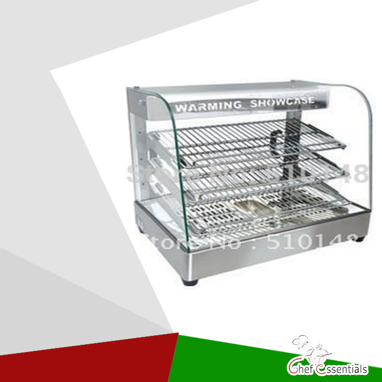 PKVI-862 curved glass warming showcase food display warmer hot food heating display showcase  display cabinet 1 2m food warmer displayer cheaper warming showcase for sale