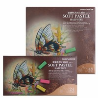 SIMBALION Taiwan Lion 24 48 Color Short Branch Soft Powder Colour Fly Rod Toner Pen Pastel