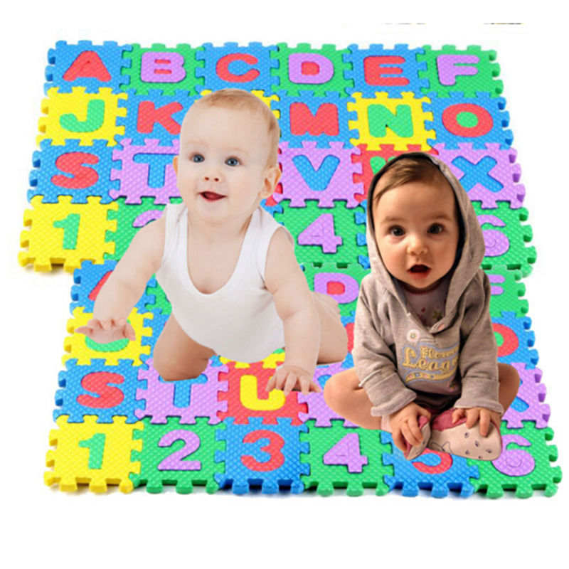 36 Pcs Baby Kids Alphanumeric Educational Puzzle Infant Child Toy Gift