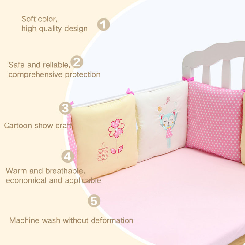 6 шт./компл. детская кроватка бампер Подушка младенцы постельные принадлежности безопасность дышащий