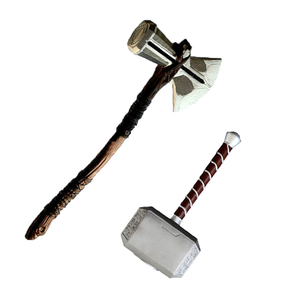 1: 1 Thor Hammer Ax 73 cm Weapons Cosplay Role Playing Movie Thor Thunder Hammer Ax Stormbreaker Storming Ax Figure