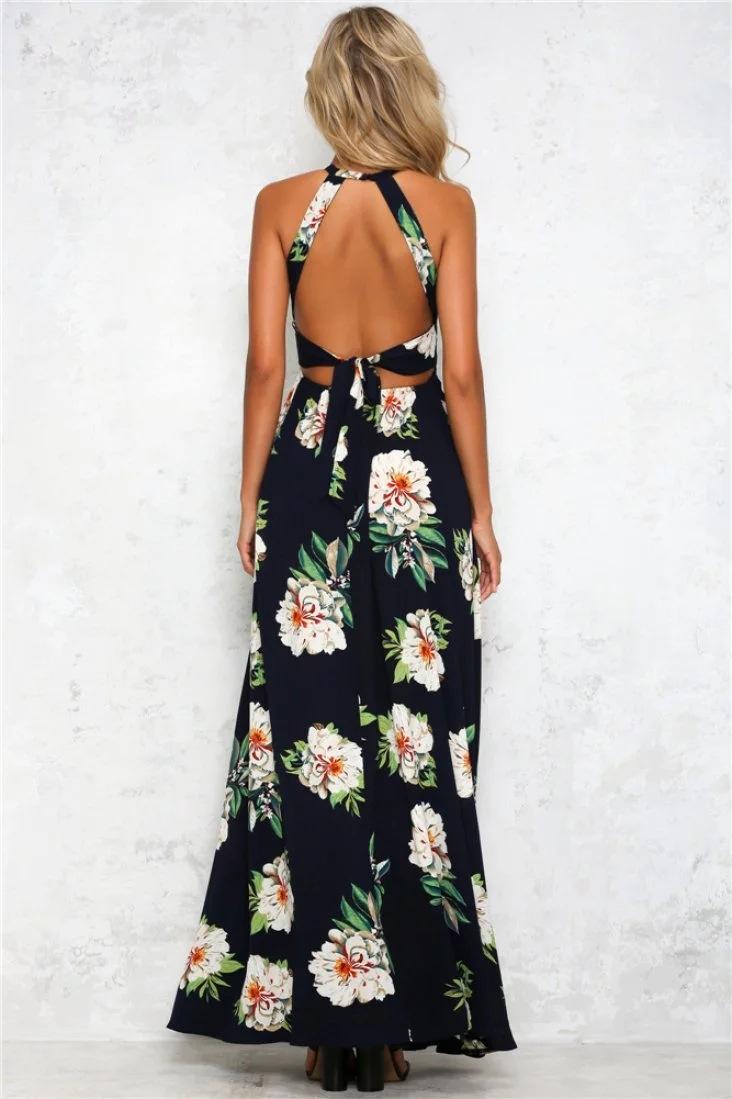 HTB1GGIRPFXXXXXhapXXq6xXFXXX0 - Women Long Sleeveless Floral Maxi Dresses JKP075