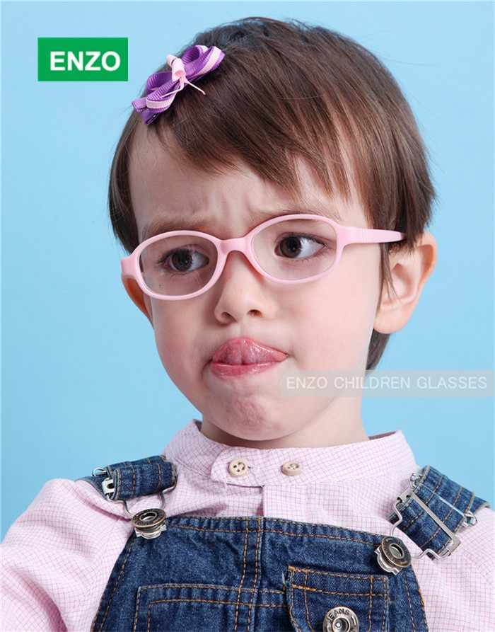 Children Glasses Frame Size 41 Mira Flexible No Screw, One-piece Optical Baby Eyewear with Strap Cord Kids Eyeglasses Boys Girls