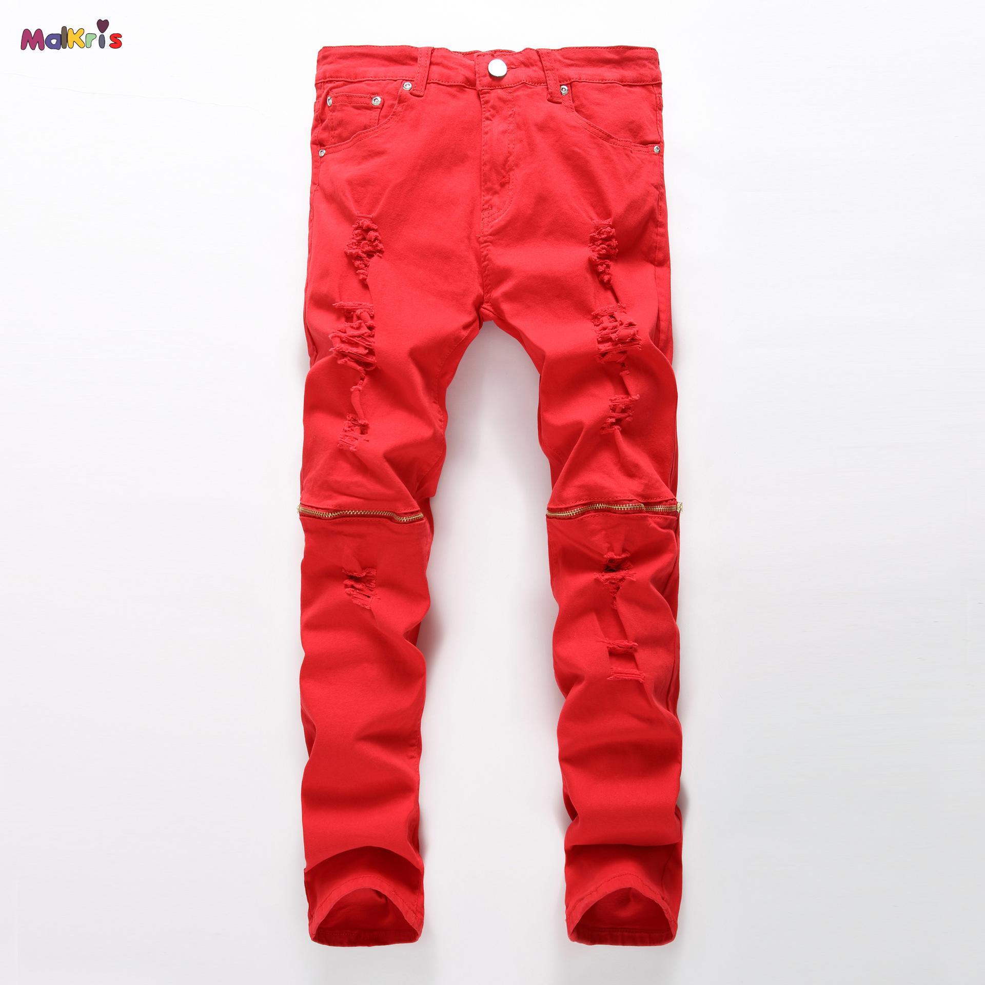 Popular Men Red Biker Jeans-Buy Cheap Men Red Biker Jeans lots ...
