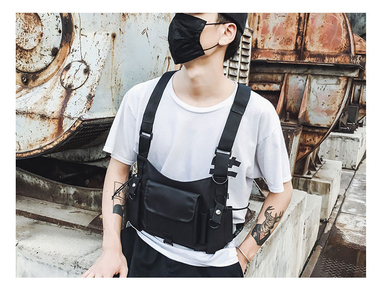 HTB1GGIfX7H0gK0jSZPiq6yvapXar - Fashion Bullet Hip Hop Streetwear Vest Chest Bag For Women Functional Waistcoat Tactical Bags For Men Black Chest Rig Bags 233