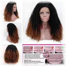 Afro Kinky Curly Hair Synthetic Lace Front Wigs Malaysian Curly Hair for African American Women Heat Resistant Kinky Curly Wigs