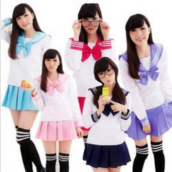 Японский Корея школьная форма карнавал volwassen kostuums uniforme Матросская юбка corea косплэй манга seifuku japones наряд