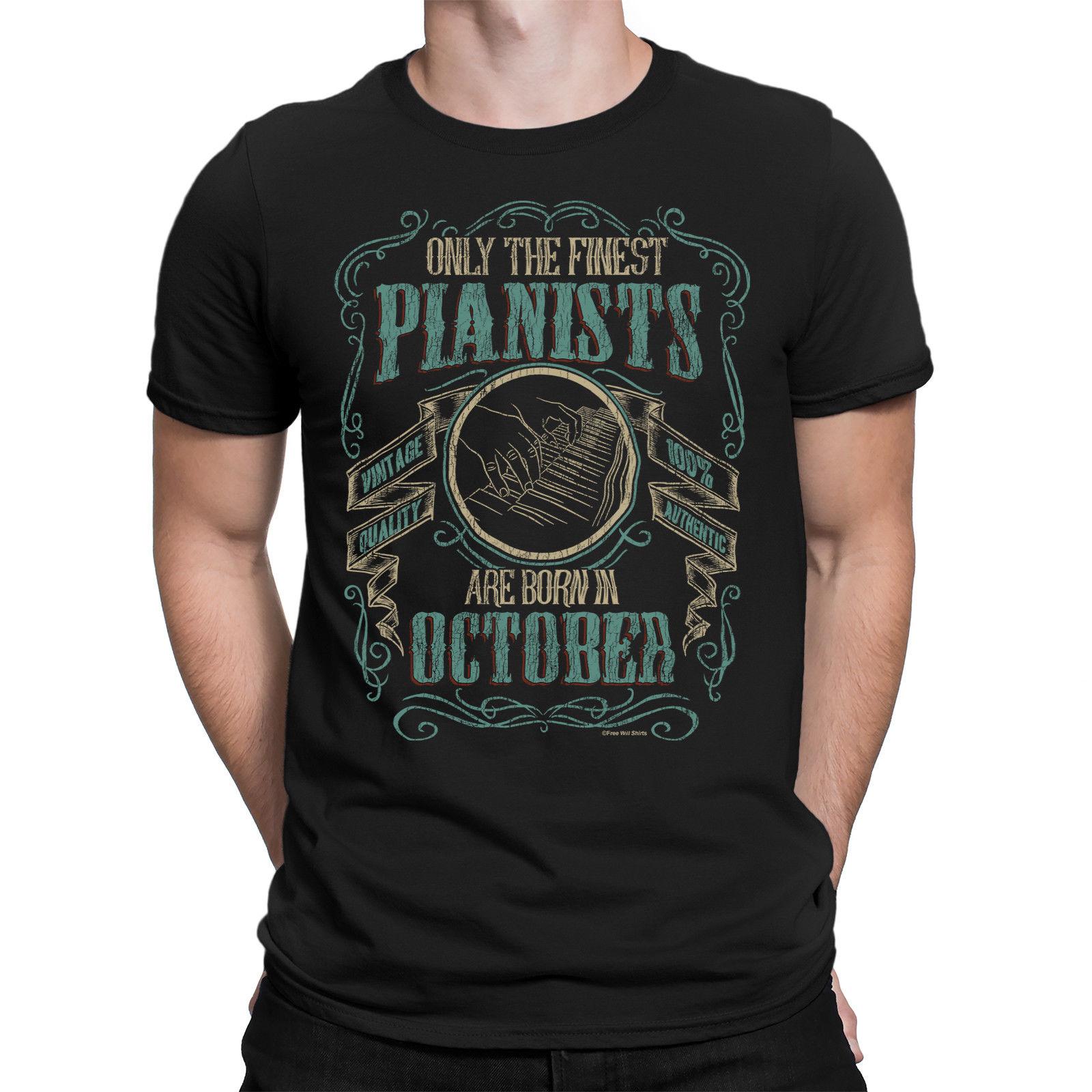 Camiseta Los Cool Pianistas 2019 Hombre En Música Octubre Para Mejores Nacidos Piano Ygvb7y6f