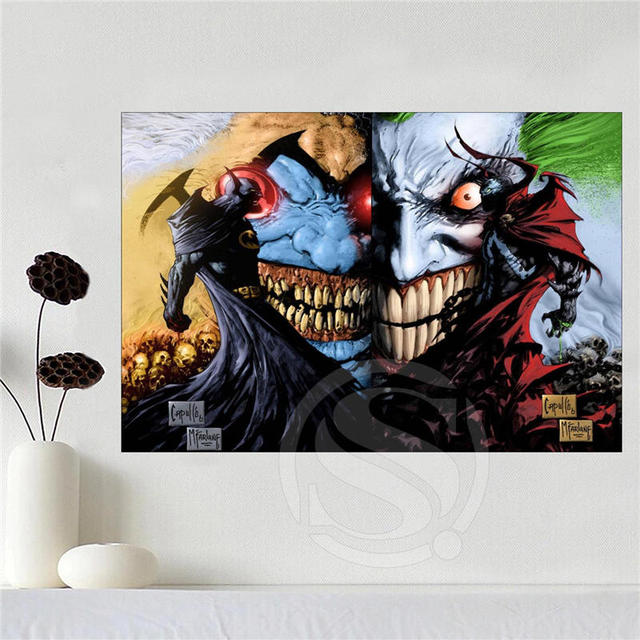 Custom Canvas Poster Art Superman Vs Batman Decoration Cloth Fabric Wall Print Silk