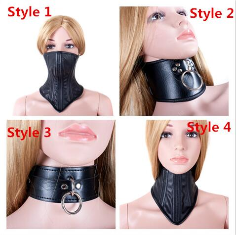 SM Bondage PU Leather Sexy Black Necklace Erotic Chastity Neck Collar Fetish Choker Gear Adult Games S&M Slave Sex Toys Sex Shop women bondage harness sexy red black faux leather erotic gothic fetish toy slave teddy adult sex dress in adult games