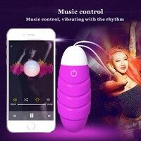 Hot USB Charge Waterproof Viberator Music Control APP Bluetooth Wireless Remote Control Jump Egg Vibrating Egg
