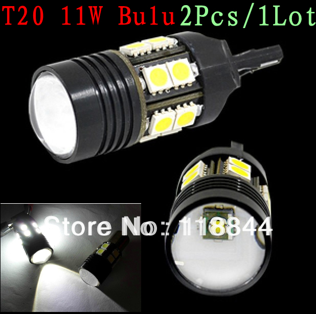 2Pcs T20 7440 7443 Brake REAR Fog DRL Lights SRCK Pin LED 12-SMD 5050 High Power LED Side Light and Stop Lights Bulbs White