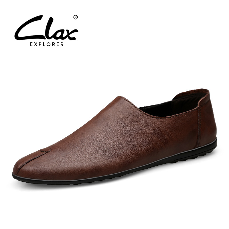 CLAX Mens Loafers 2019 Summer Casual Shoe Male Flats Boat Shoe Genuine Leather Man 39 s Moccasins Breathable in Men 39 s Casual Shoes from Shoes
