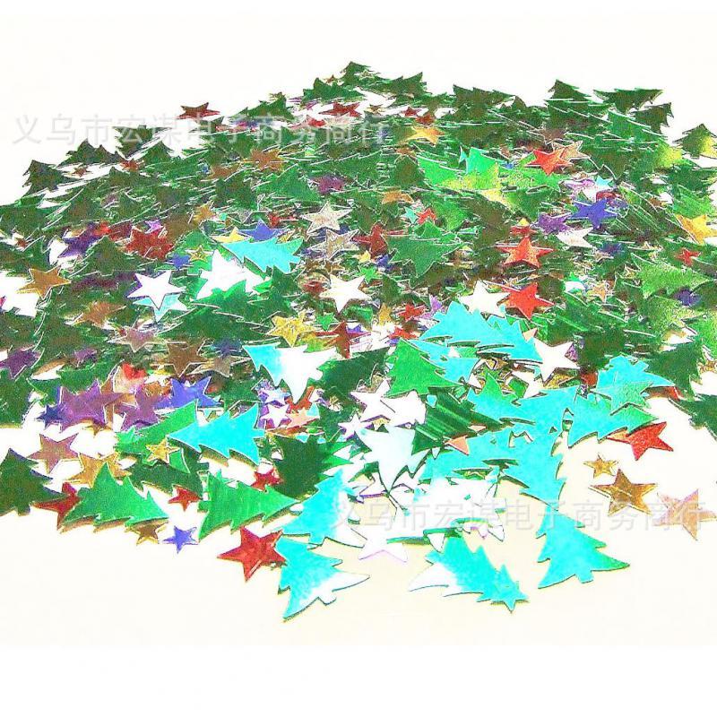 테이블 스 캐터 색종이 크리스마스 크리스마스 트리 별 장식 뿌리 장식 파티 식기 1 팩
