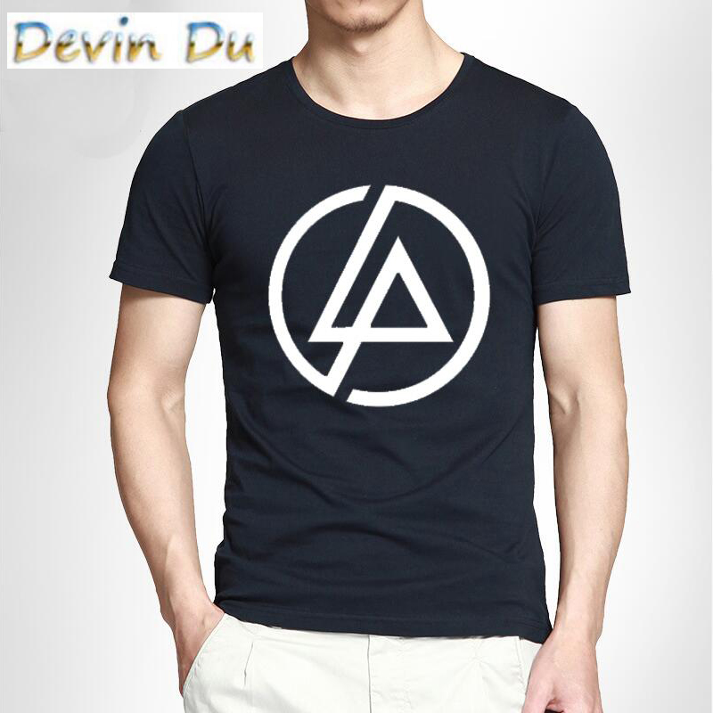 Fashion High Quality Printing   T  -  shirts   Linkin Park   T     Shirt   100% Cotton Short Sleeve Tee Round Neck S-XXL