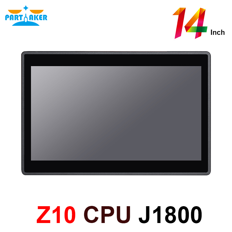 14 Inch 10 Points Capacitive Touch Screen Intel J1800 Duad Core All In One Industrial Panel PC