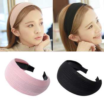 Women/'s Fabric Solid Wide Hairband Bow Knot Headband Hair Band Hoop Accessories