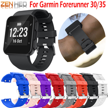 цена на Silicone sport wristband For Garmin Forerunner 35 /30 Replacement smart fashion bracelet For Garmin Forerunner 30/35 watch band