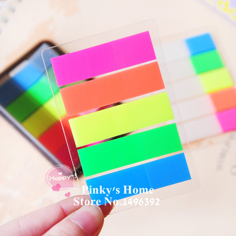 Kawaii Stationery Day Candy Color Fluorescent Posted It Message Stickers Notes Diary Decoration Stickers