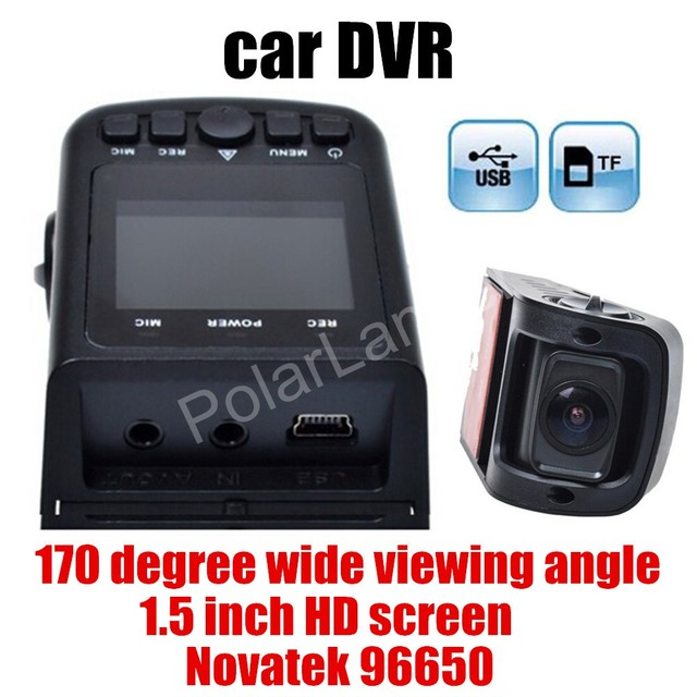 car styling A118 Novatek 96650 170 Degree wide viewing angle Mini Car DVR Dash Cam Video Recorder best price