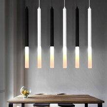 Lâmpada pingente led 1 polegada cilindro tubo para ilha de cozinha sala jantar loja balcão barra decoração pendurado luz da cozinha lâmpada