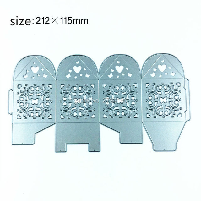 1set metal box cutting dies stencil template for diy embossing
