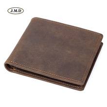 J.M.D New Arrivals Genuine Leather  Brown Color Photo Holder Fashion Purse Card Wallet Money R-8164-3R